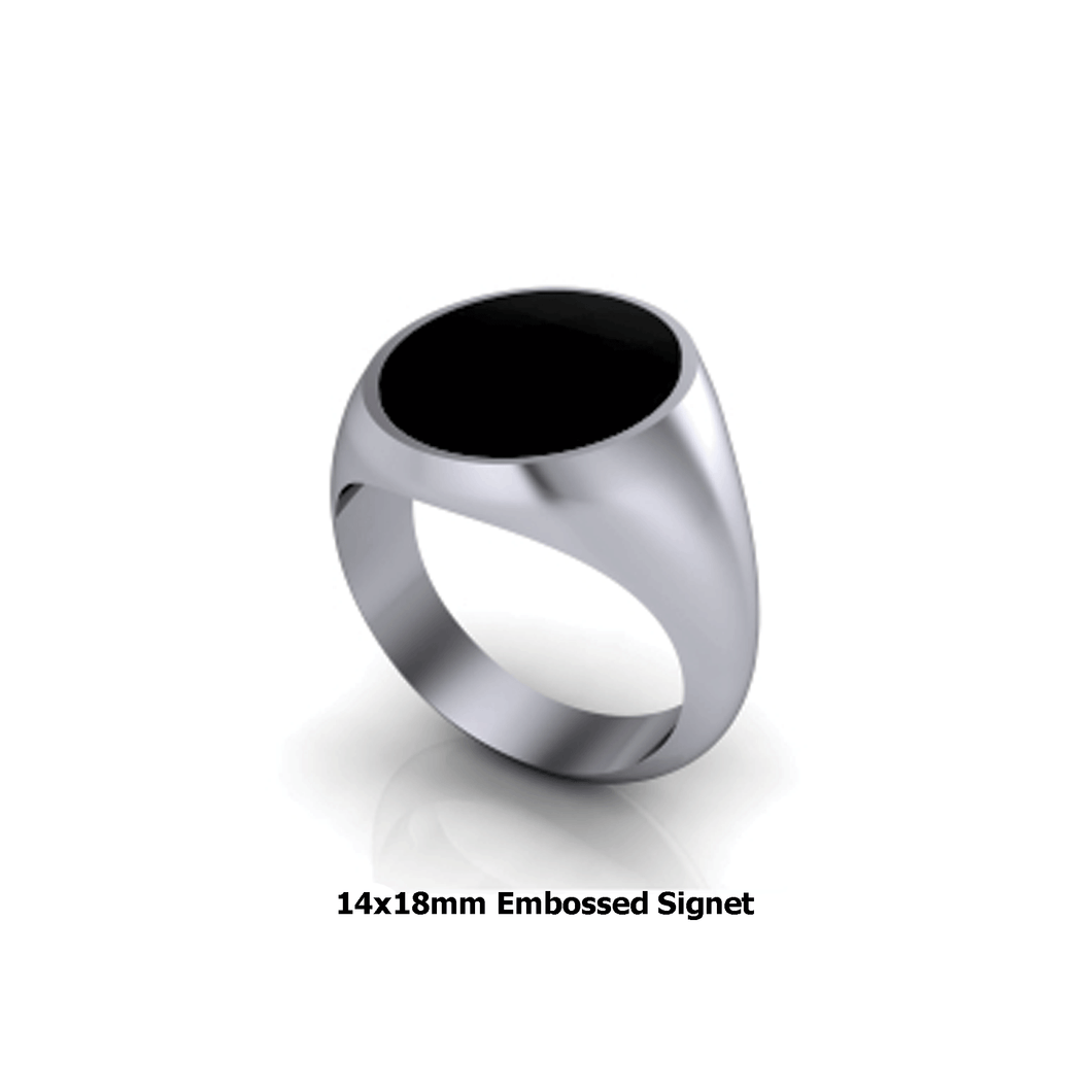 Personalized sterling silver signet ring - mens signet ring