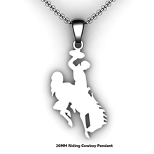 Load image into Gallery viewer, custom riding cowboy necklace you design personalized riding cowboy necklace customized jewelry
