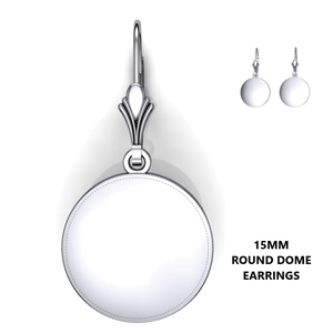Personalized round domed earrings - design your own earrings - custom round domed earrings