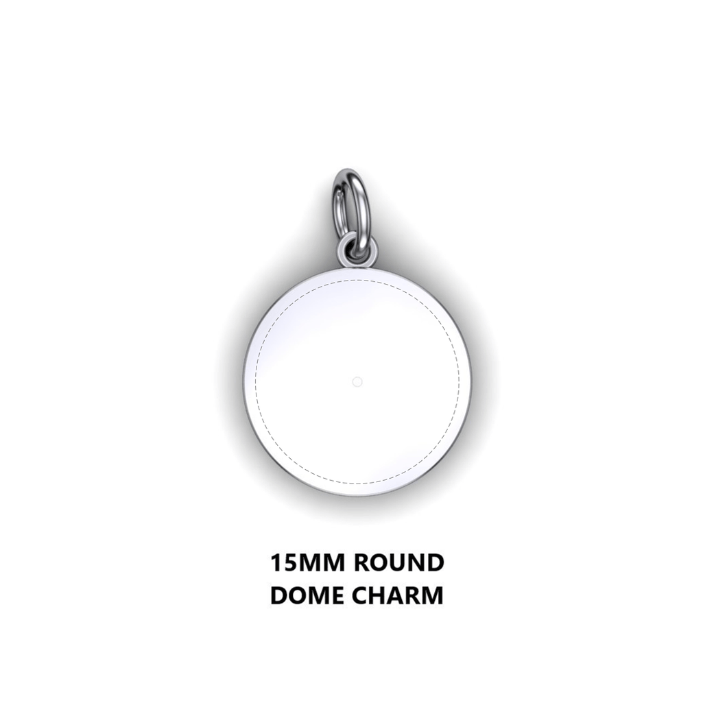 Personalized round charm - design your own charm - custom round domed charm