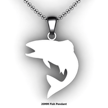 Load image into Gallery viewer, custom fish necklace you design personalized fish necklace customized jewelry