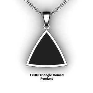 Personalized Triangle Pendant - design your own necklace - custom triangle domed pendant