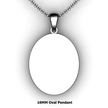 Load image into Gallery viewer, Personalized oval pendant - design your own necklace - custom oval pendant
