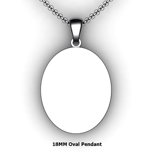 Personalized oval pendant - design your own necklace - custom oval pendant