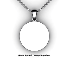 Load image into Gallery viewer, Personalized round pendant - design your own necklace - custom round domed pendant