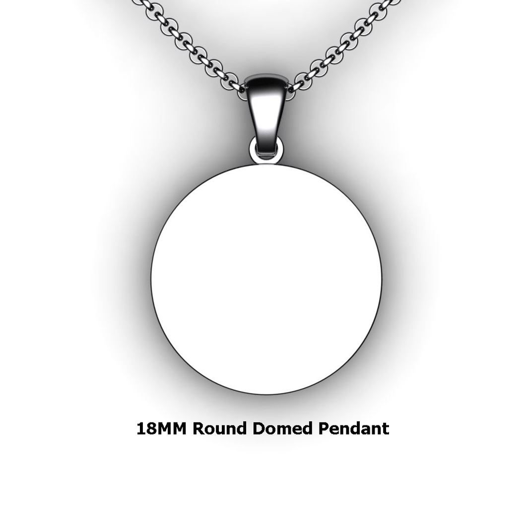 Personalized round pendant - design your own necklace - custom round domed pendant