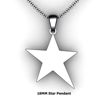 Load image into Gallery viewer, Personalized Star Pendant - design your own necklace - custom star pendant