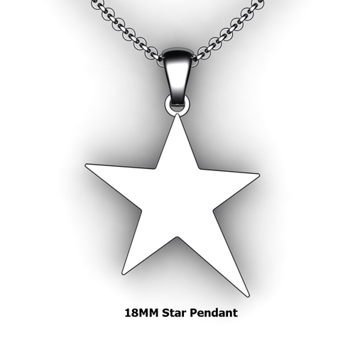 Personalized Star Pendant - design your own necklace - custom star pendant