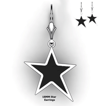 Load image into Gallery viewer, Personalized Star Earrings - design your own earrings - custom embossed star earrings