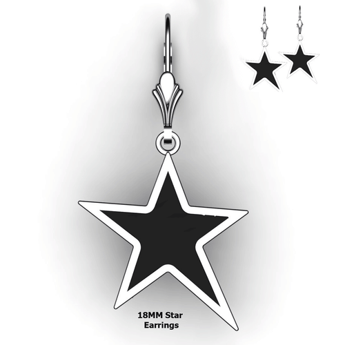 Personalized Star Earrings - design your own earrings - custom embossed star earrings
