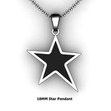 Load image into Gallery viewer, Personalized Star Pendant - design your own necklace - custom Embossed star pendant