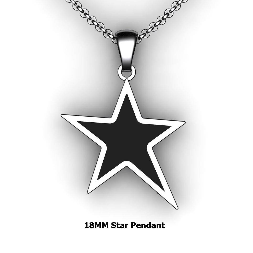 Personalized Star Pendant - design your own necklace - custom Embossed star pendant