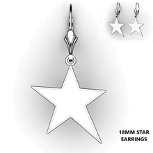 Load image into Gallery viewer, Personalized Star Earrings - design your own earrings - custom star earrings