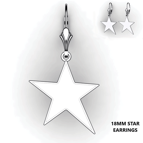 Personalized Star Earrings - design your own earrings - custom star earrings