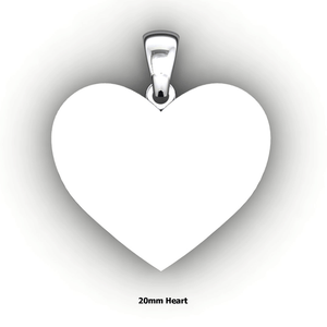 Personalized heart shaped pendant - design your own necklace