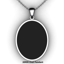 Load image into Gallery viewer, Personalized oval pendant - design your own necklace - custom Embossed oval text formatted pendant