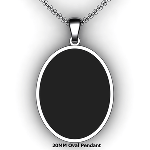 Personalized oval pendant - design your own necklace - custom Embossed oval text formatted pendant