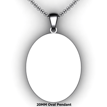 Load image into Gallery viewer, Personalized oval pendant - design your own necklace - custom oval text formatted pendant
