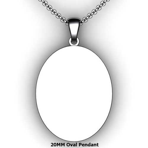 Personalized oval pendant - design your own necklace - custom oval text formatted pendant