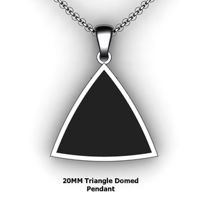 Personalized Triangle Pendant - design your own necklace - custom triangle domed embossed pendant