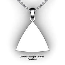 Load image into Gallery viewer, Personalized Triangle Pendant - design your own necklace - custom triangle domed pendant