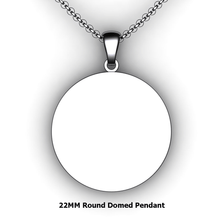 Load image into Gallery viewer, Personalized round pendant - design your own necklace - custom round pendant
