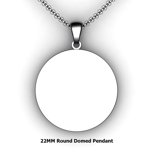 Personalized round pendant - design your own necklace - custom round pendant