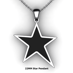 Personalized Star Pendant - design your own necklace - custom star embossed pendant