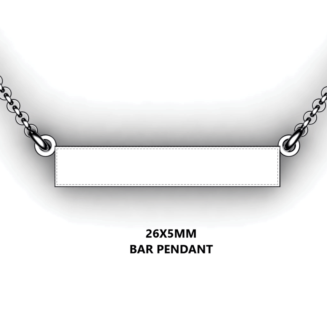 custom horizontal bar necklace - add engraving