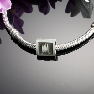 three sided anniversary bead for pandora style bracelets - personalized bracelet