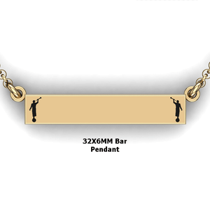 personalized mission bar pendant with 2 Moroni - design your own necklace - custom Horizontal bar pendant 14K YG