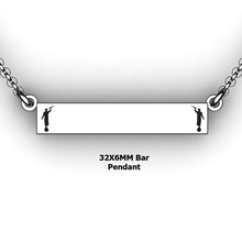 Load image into Gallery viewer, personalized mission bar pendant with 2 Moroni - design your own necklace - custom Horizontal bar pendant