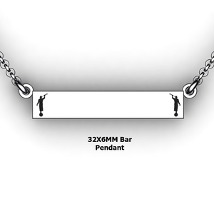 personalized mission bar pendant with 2 Moroni - design your own necklace - custom Horizontal bar pendant