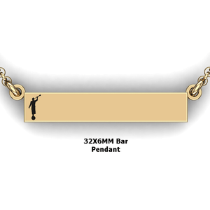 personalized mission bar pendant with Moroni - design your own necklace - custom Horizontal bar pendant 14 K YG