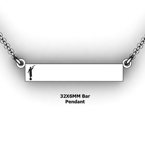 personalized mission bar pendant with Moroni - design your own necklace - custom Horizontal bar pendant