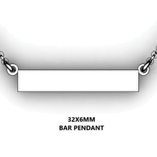 Load image into Gallery viewer, Personalized bar pendant - design your own necklace - custom Horizontal bar pendant
