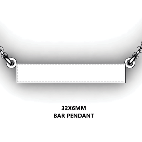 Personalized bar pendant - design your own necklace - custom Horizontal bar pendant