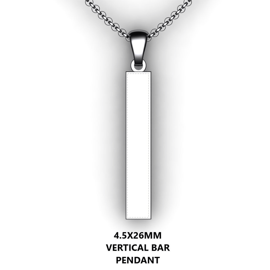 Personalized bar pendant - design your own necklace - custom Vertical bar pendant