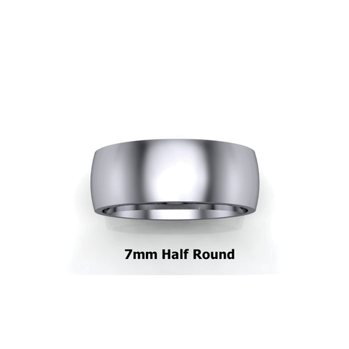7mm Half Round Ring  - Design Your Own