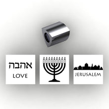 Load image into Gallery viewer, Personalized 3 sided pandora style charm - add your own information to personalize - add Religious information - choose your religious symbols, quotes, city scapepture, Moroni