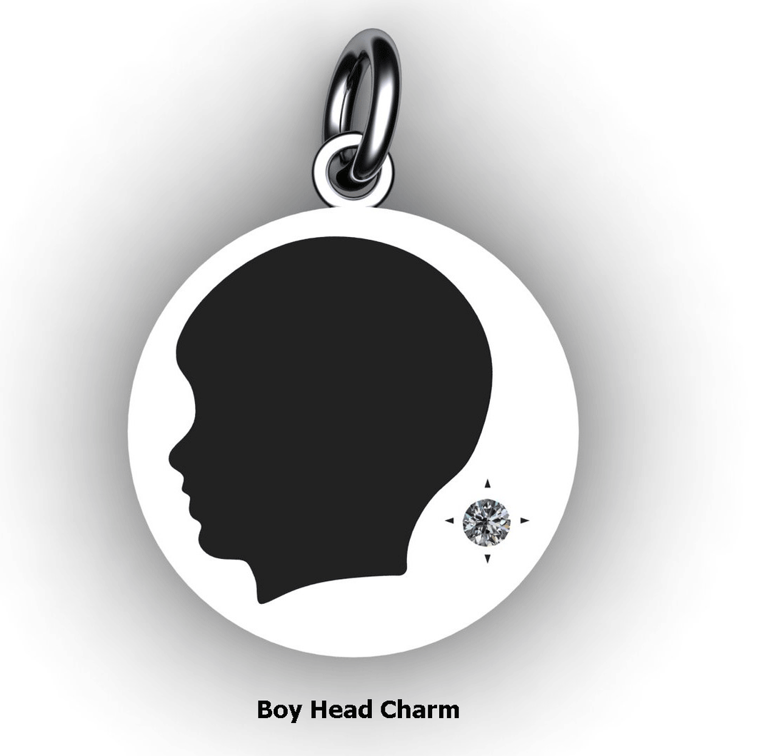 personalized baby boy charm with birthstone embossed cut out custom jewelry custom baby charms