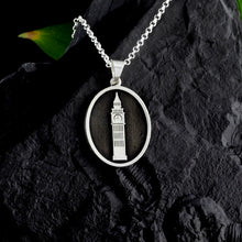 Load image into Gallery viewer, Personalized oval necklace engraved with choice of state or country outline