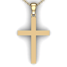 Load image into Gallery viewer, custom cross necklace you design personalized Cross necklace customized jewelry 14K YG