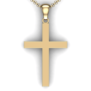 custom cross necklace you design personalized Cross necklace customized jewelry 14K YG