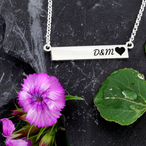 love necklace anniversary gift wedding gift add your initials initials with heart necklace design your own jewelry