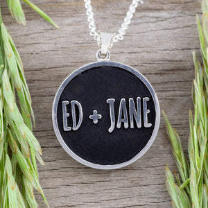 personalized embossed pendant - add your logo - add images and text