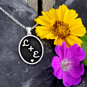 custom couple necklace initial necklace personalize with initials gift for her anniversary gift wedding gift