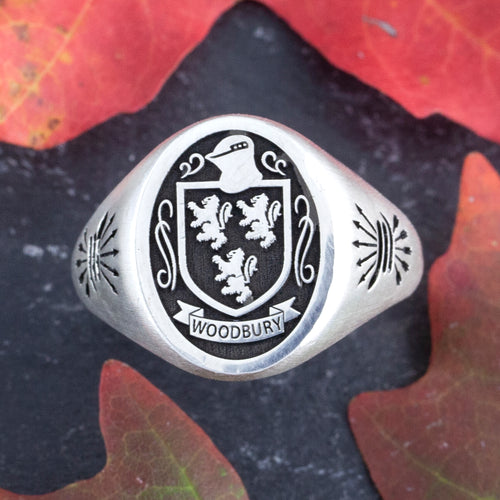 Family Crest Signet Ring  - Oval Ring - Personalize Family Crest Rings
