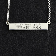 Load image into Gallery viewer, personalized bar necklace with engraving - sterling silver bar necklace