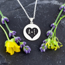 Load image into Gallery viewer, Wedding Necklace Anniversary Necklace Personalize with your initials design your own jewelry online